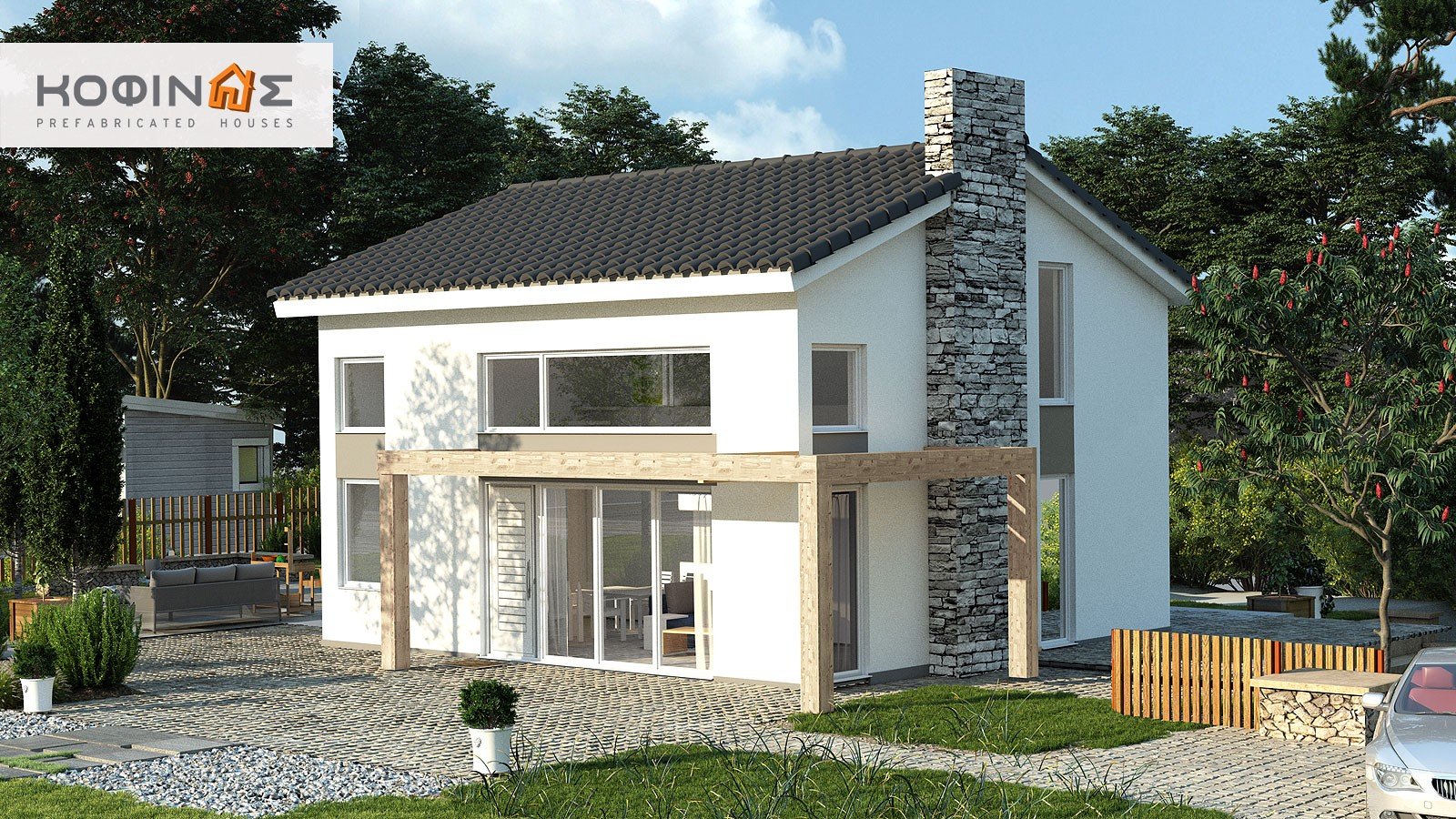 Single story house, KIS2-100 (100,37m²) – Price: 88.300€
