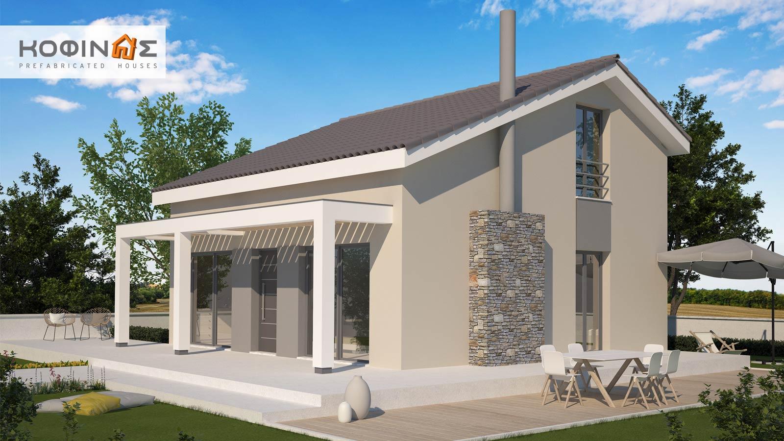 Single story house, KIS1-116 (116,15 m²) – Price: 99.000€