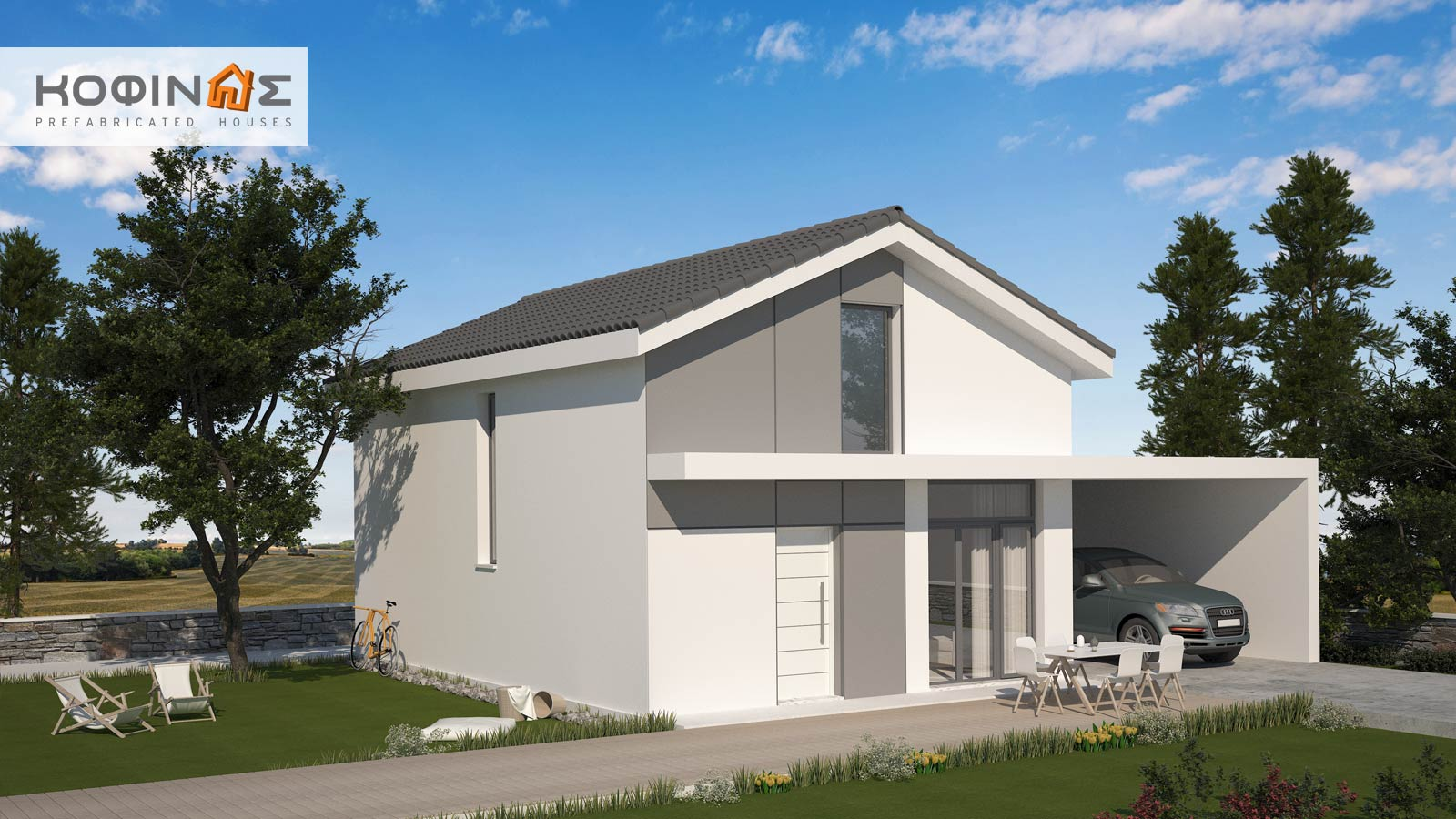 1-story house with attic KIS2-112, total surface of 112,00 m²