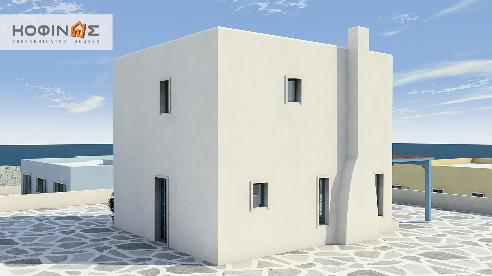 2-story house D-84, total surface of 84,70 m²0