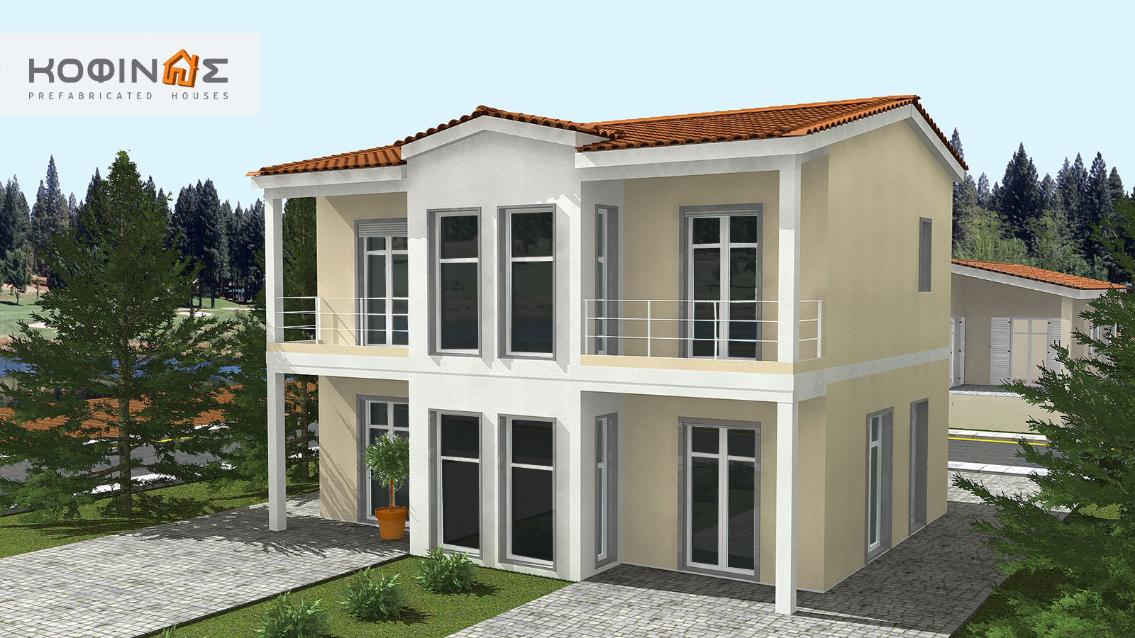 2-story house D-128, total surface of 128,40 m²0