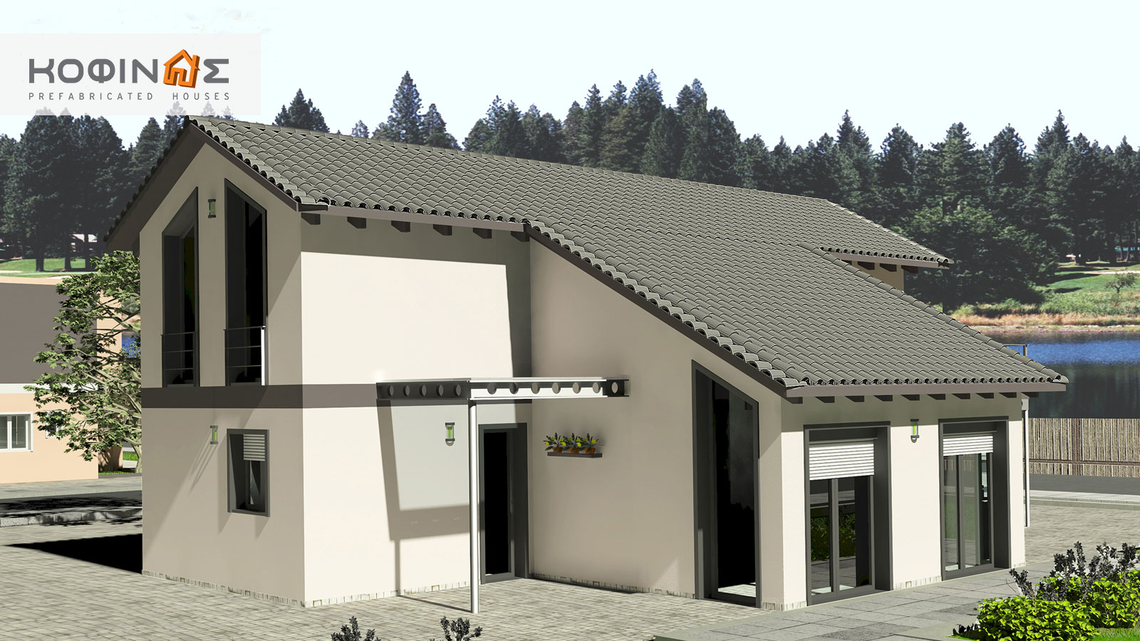 2-story house D-141, total surface of 141,70 m²