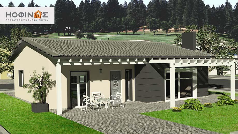 Ισόγεια Κατοικία I-105, συνολικής επιφάνειας 105,60 τ.μ.