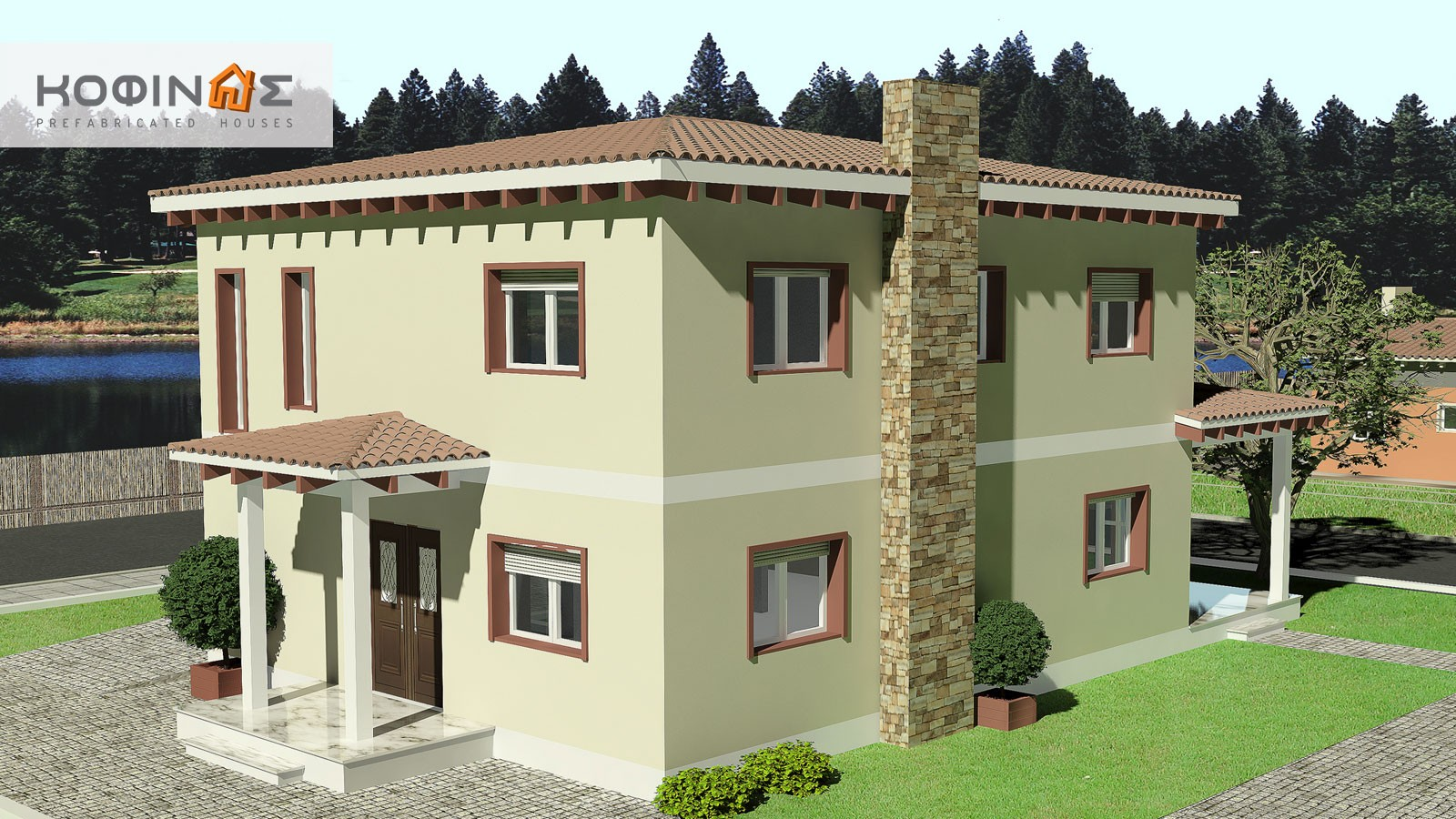 2-story house D-181, total surface of 181,90 m²1