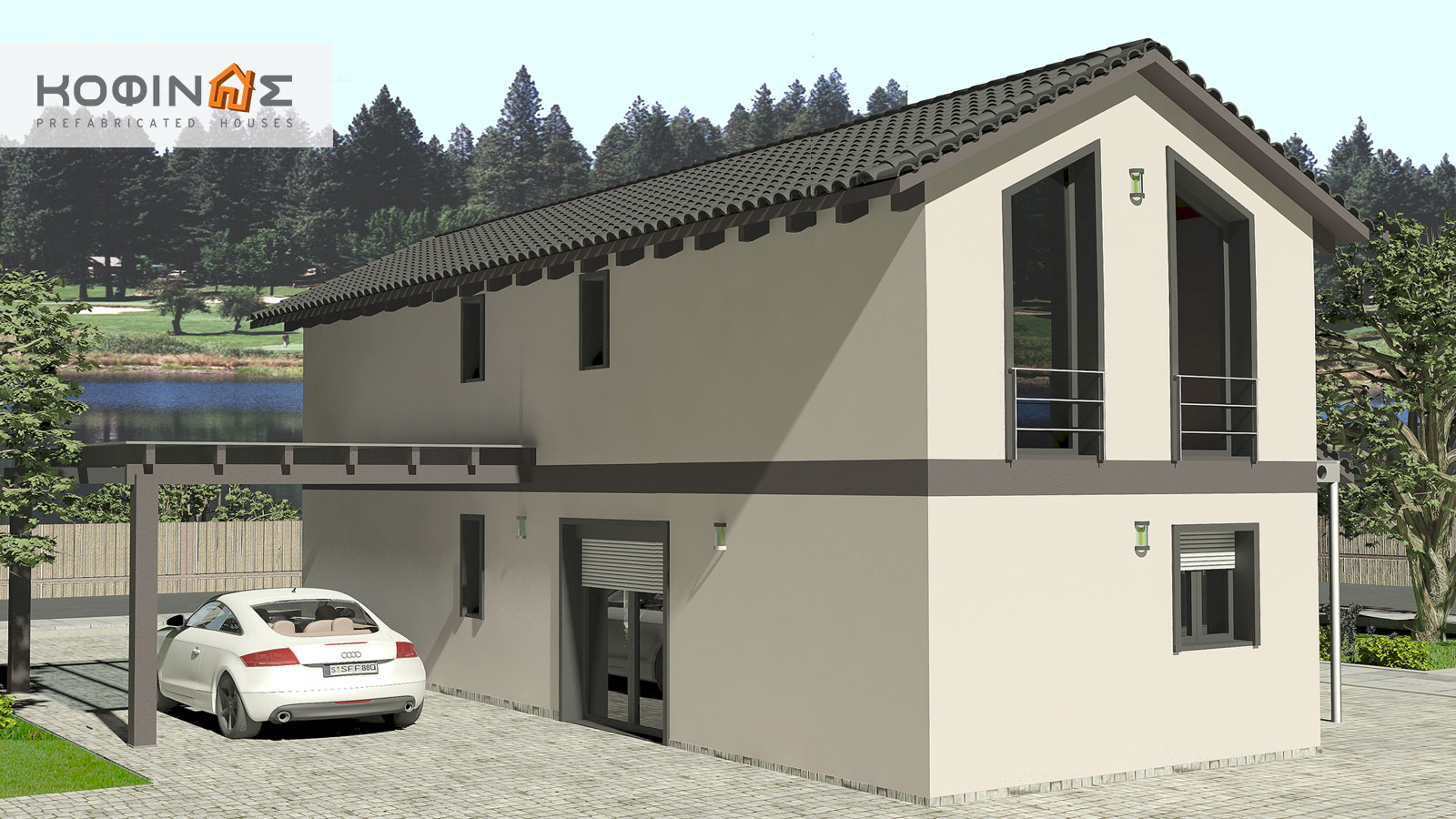 2-story house D-141, habitable space of 141,70 m²