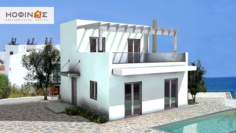 2-story house D-81, total surface of 81,00 m²