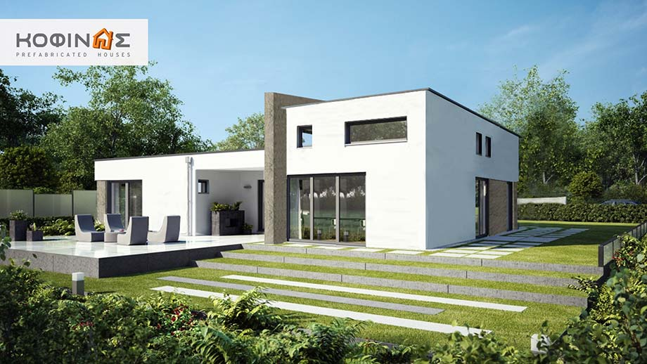 1-story house I-116, habitable space of 116,80 m²