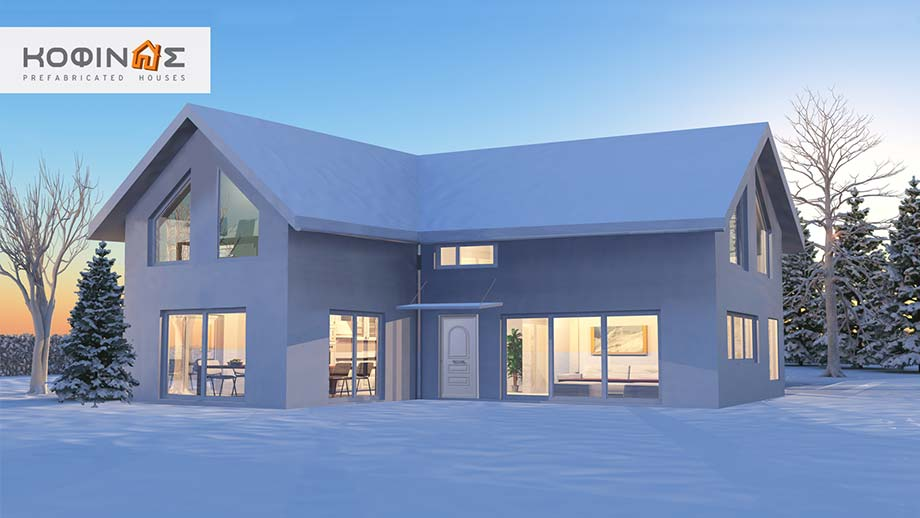 1-story house with attic IS-115, habitable space of 115,80 m²