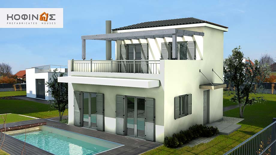 2-story house D-81a, total surface of 81,00 m²
