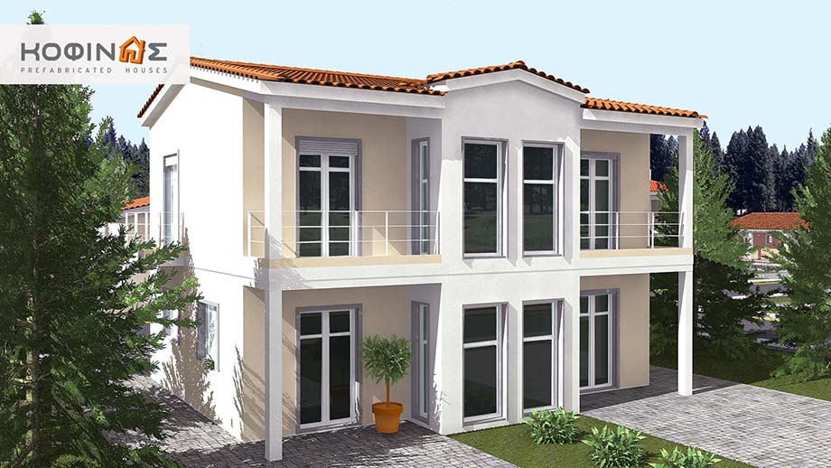 2-story house D-128, total surface of 128,40 m²