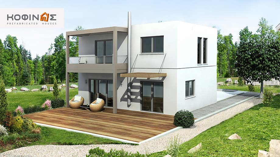 2-story house D-131, total surface of 131,10 m²
