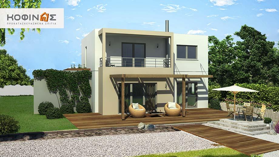 Διώροφη Κατοικία D-140, συνολικής επιφάνειας 140,20 τ.μ.