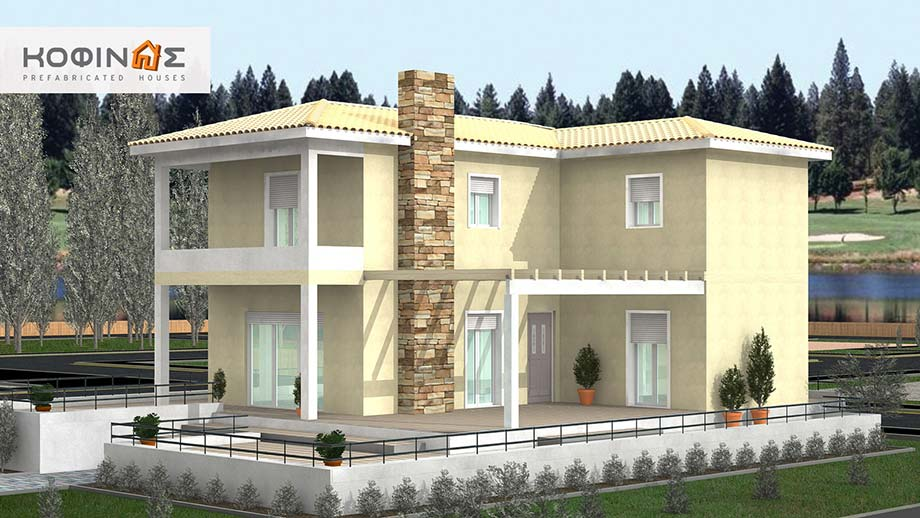 2-story house D-148, total surface of 148,00 m²
