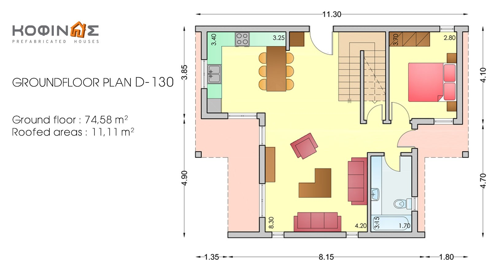 2-story house D-130, habitable space of 130,2 m²