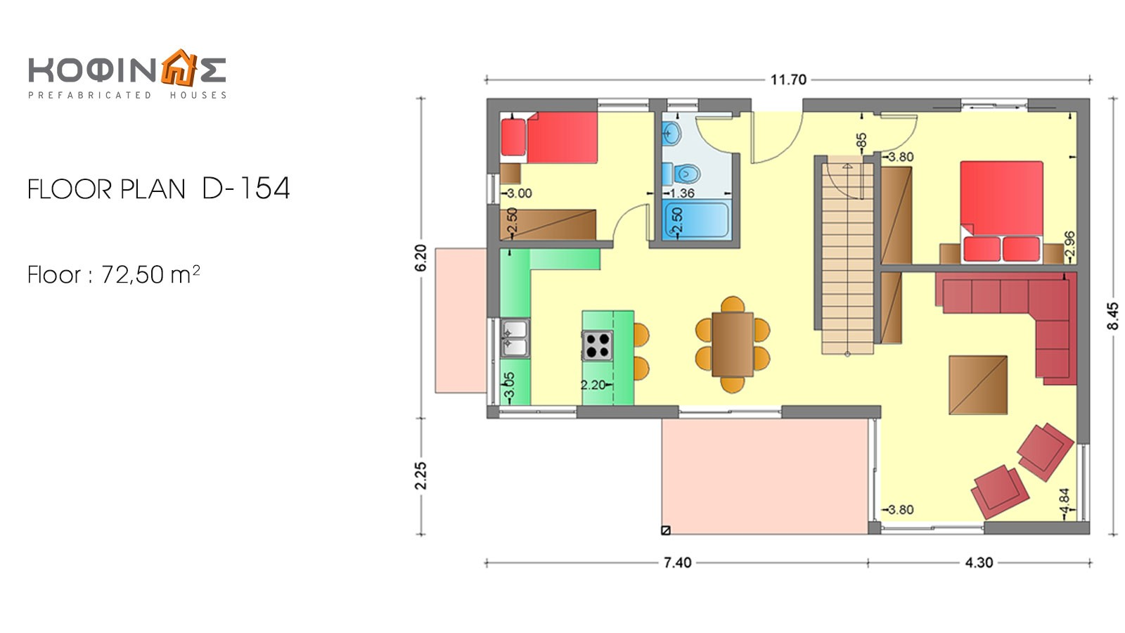 2-story house D-154, habitable space of 154,70 m²
