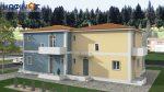 Συγκρότημα Κατοικιών D-115, συνολικής επιφάνειας 2 x 115,20 = 230,40 τ.μ.