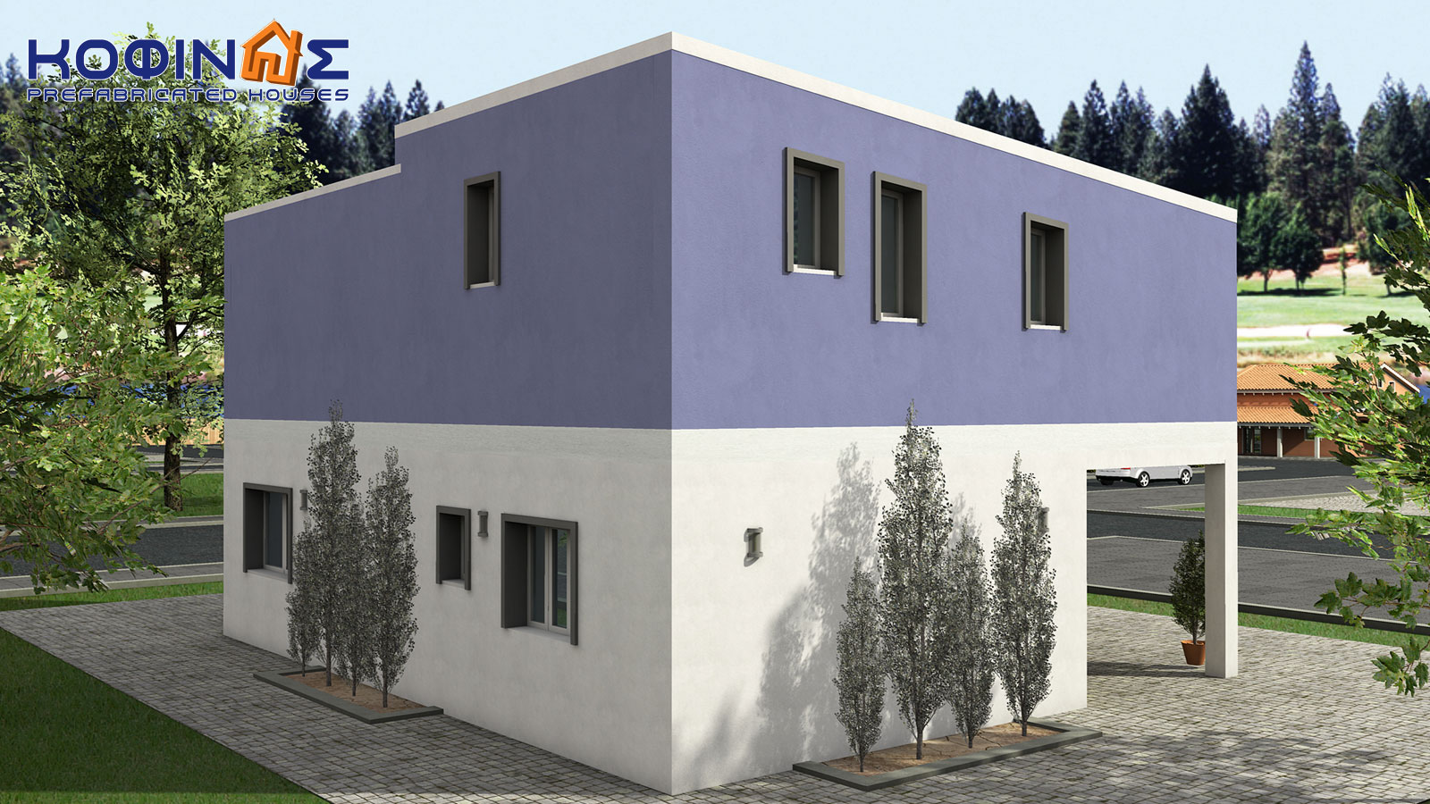 2-story house D-128a, total surface of 128,60 m²