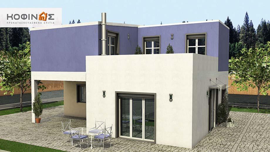 Διώροφη Κατοικία D-128a, συνολικής επιφάνειας 128,60 τ.μ.