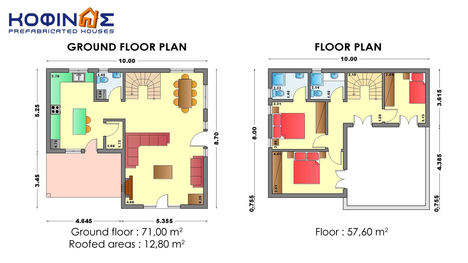 2-story house D-128a, habitable space of 128,60 m²