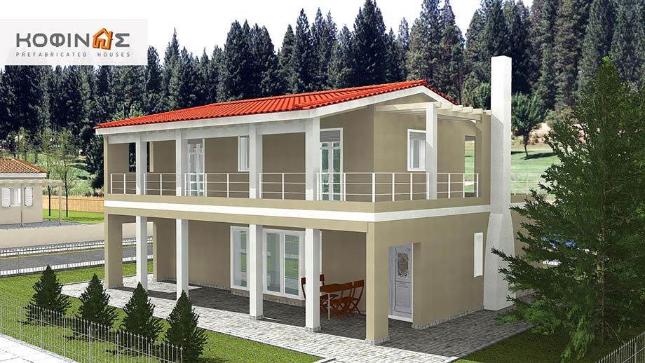 2-story house D-131a, total surface of 131,50 m²