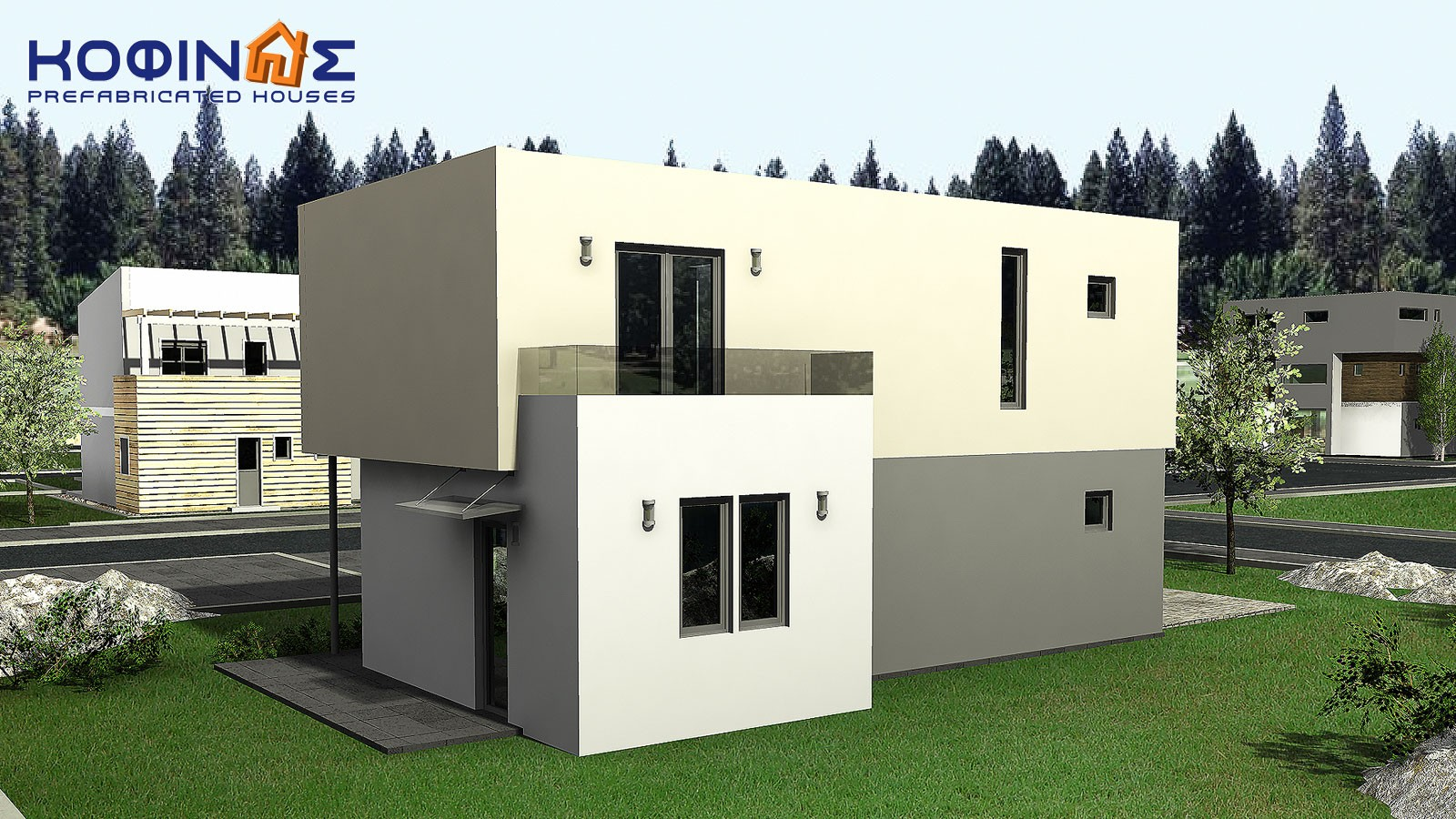 2-story house D-135, total surface of 135,20 m²