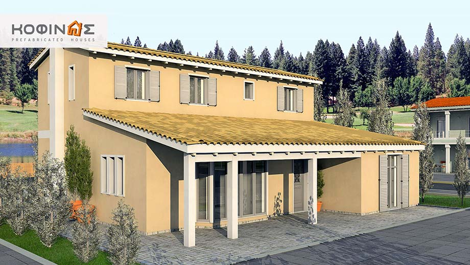 2-story house D-167, total surface of 167,00 m²