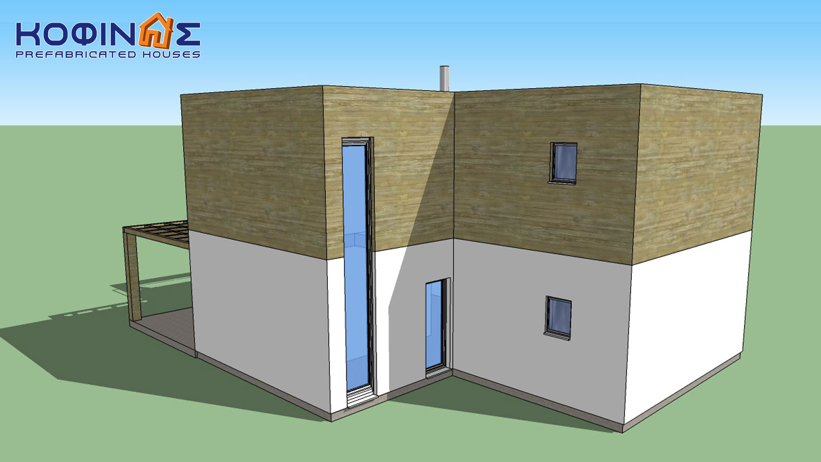 2-story house D-188, total surface of 188,60 m²1