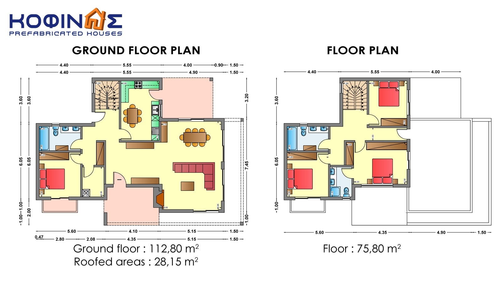 2-story house D-188, total surface of 188,60 m²