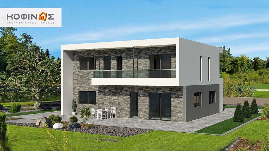 2-story house D-200, total surface of 200,10 m²