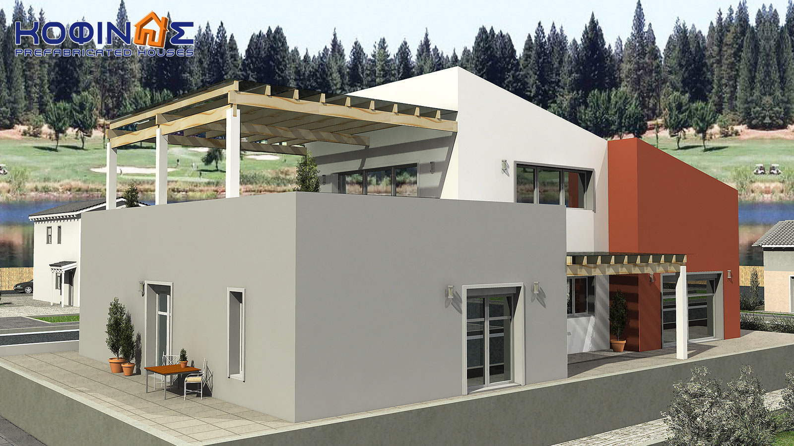 2-story house D-206, total surface of 206,30 m²