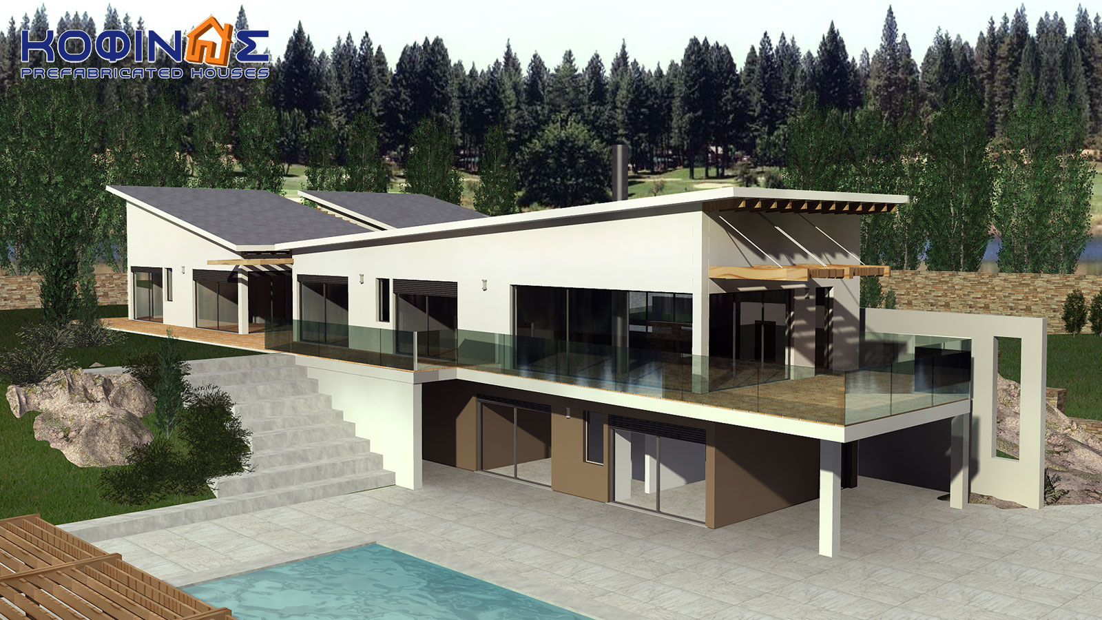 2-story house D-351, total surface of 351,80 m²0