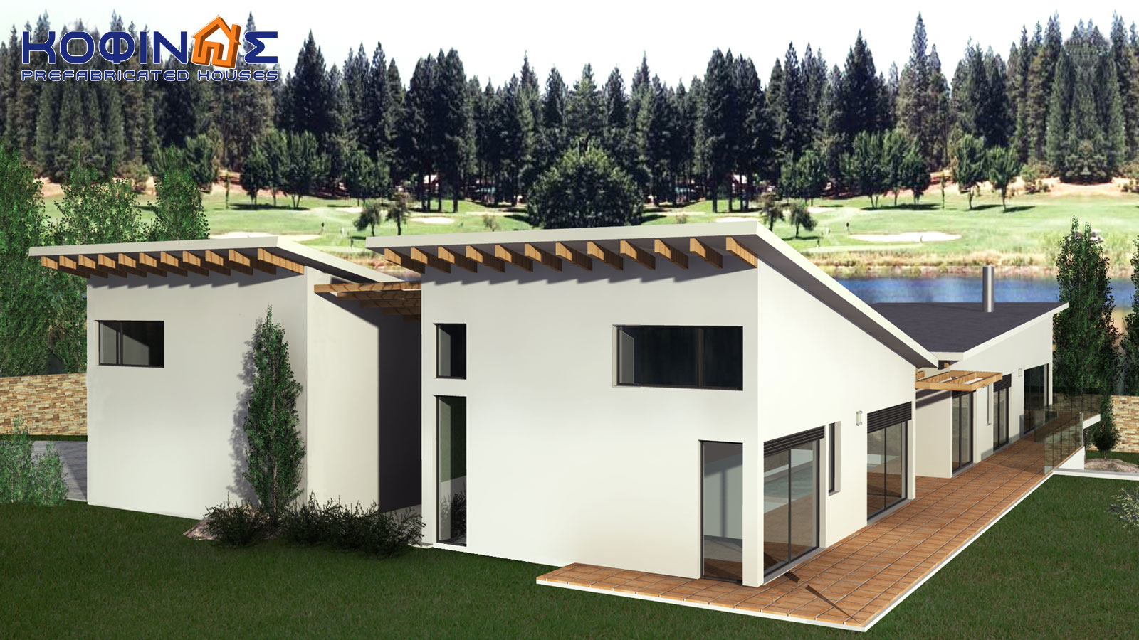 2-story house D-351, total surface of 351,80 m²