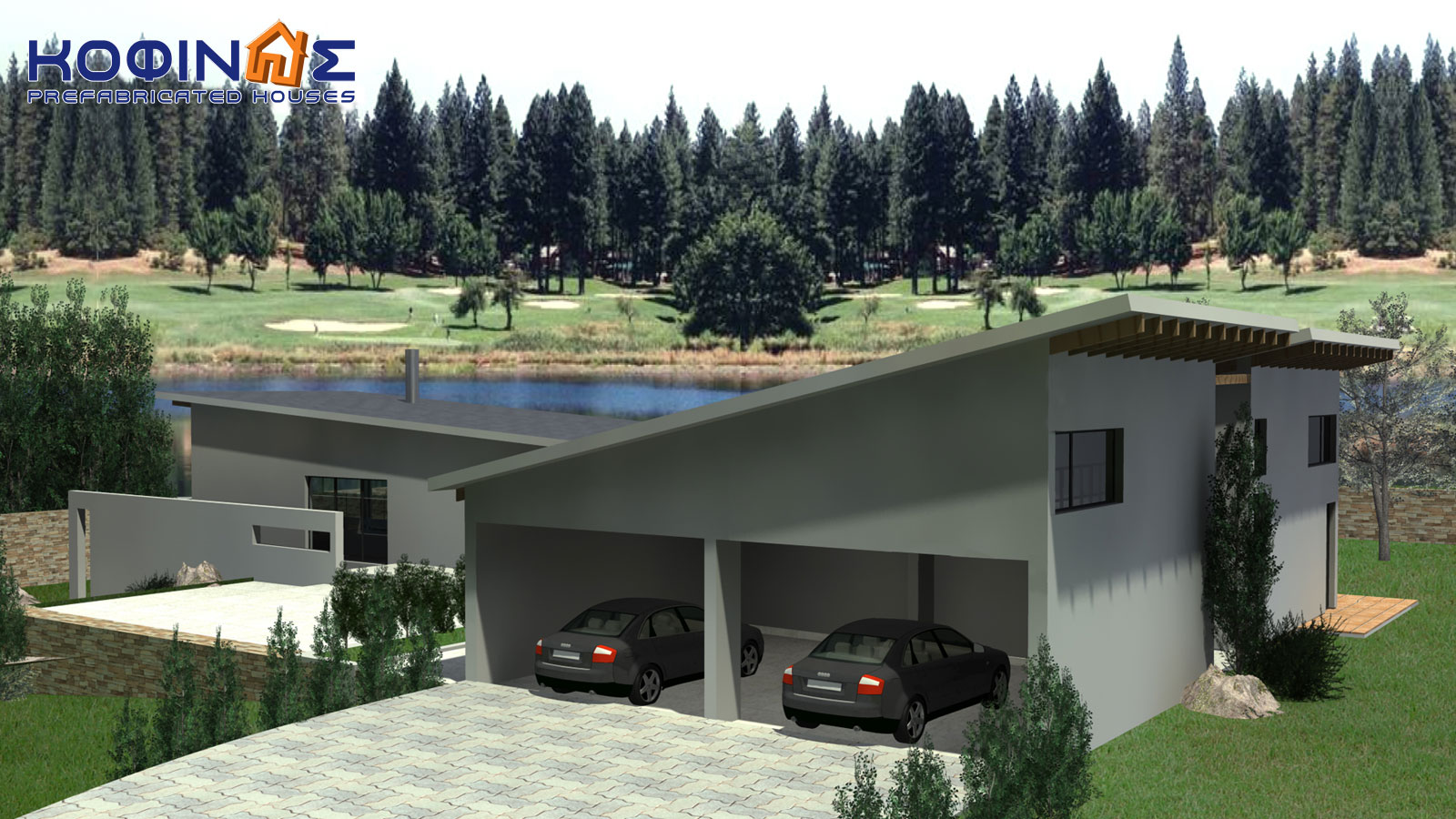 2-story house D-351, total surface of 351,80 m²2