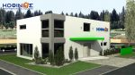 2-story office building with atrium E-293, total space of 293,70 m²
