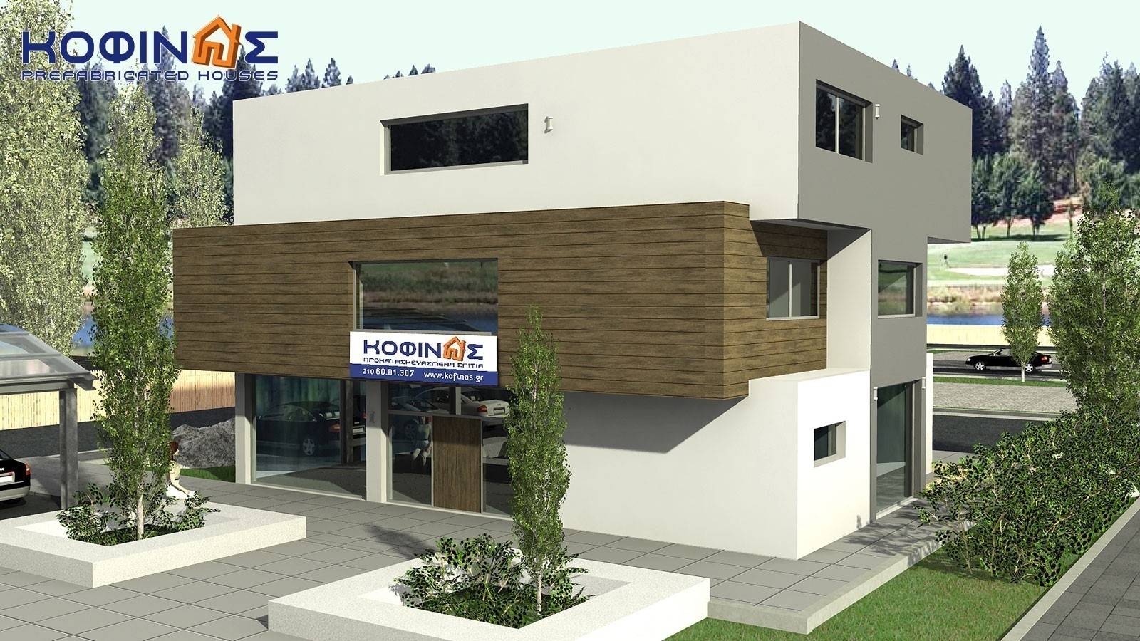 3-story office building with attrium E-436, total space of 436,30 m²0