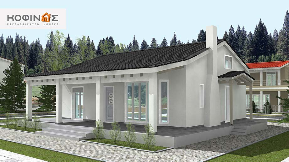 1-story house with attic IS-119, total surface of 119,70 m²