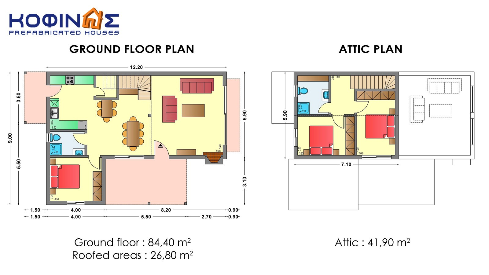 1-story house with attic IS-126a