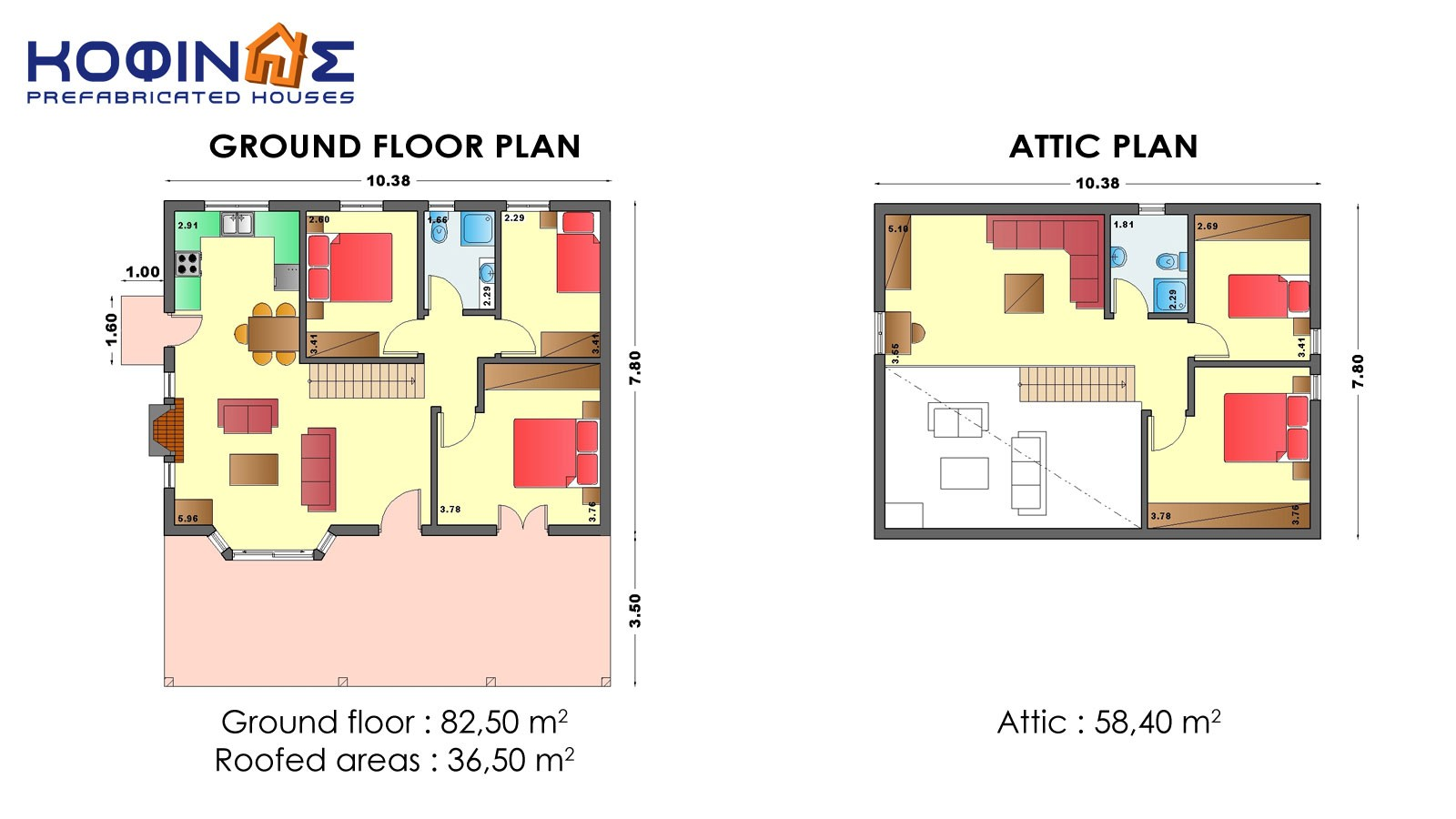1-story house with attic IS-140a