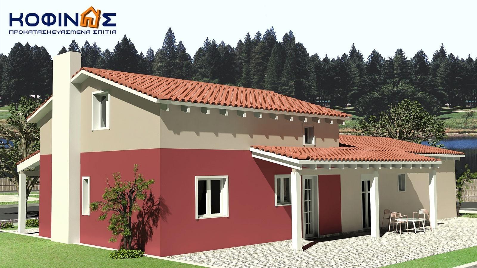 Ισόγεια Κατοικία με Σοφίτα IS-146, συνολικής επιφάνειας 146,60 τ.μ.