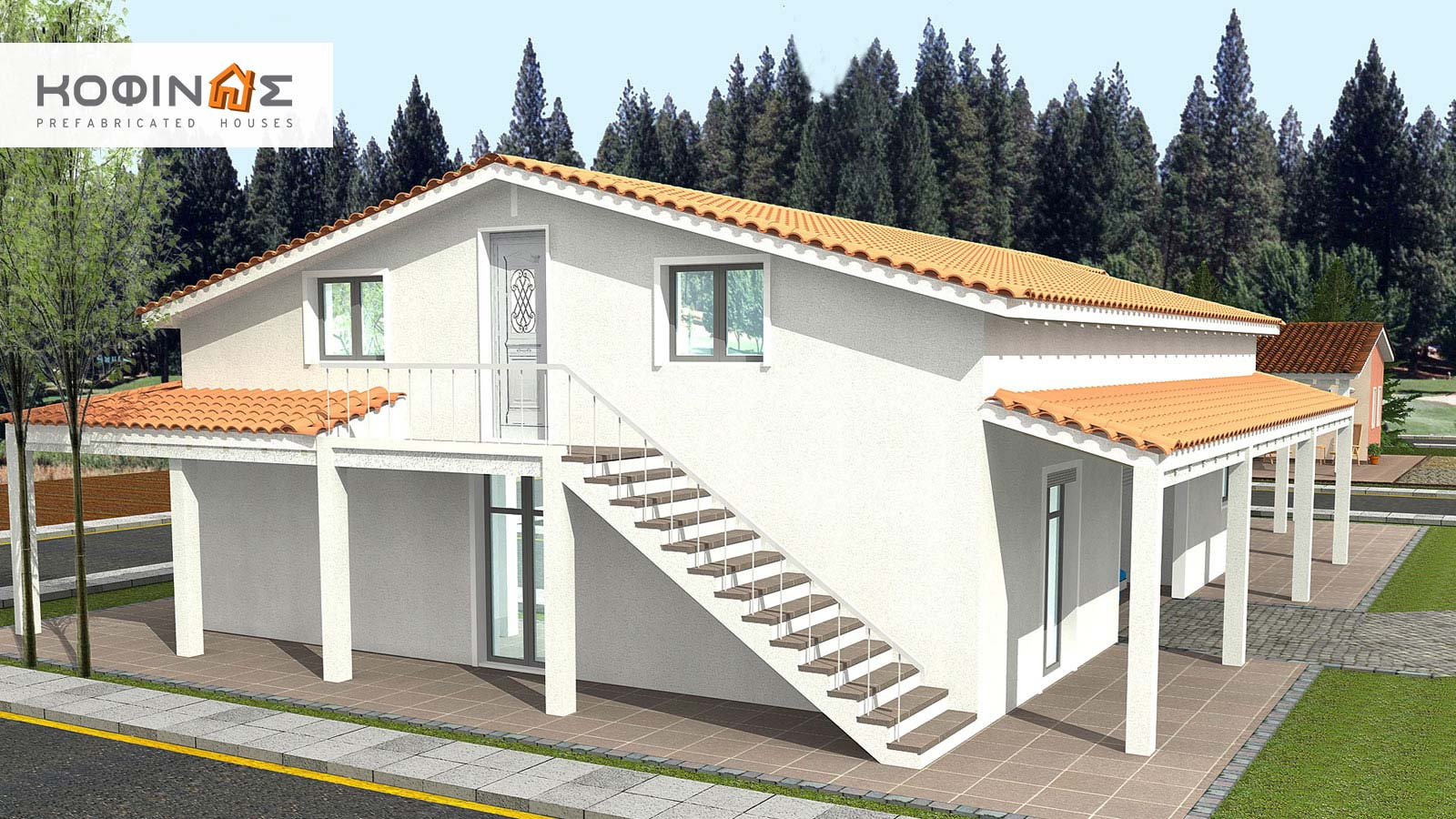 1-story house with attic IS-234, total surface of 234,80 m²