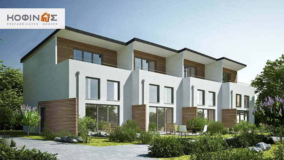 Complex 3-story houses E-84, total surface of 4 x 84,17 = 336,68 m²