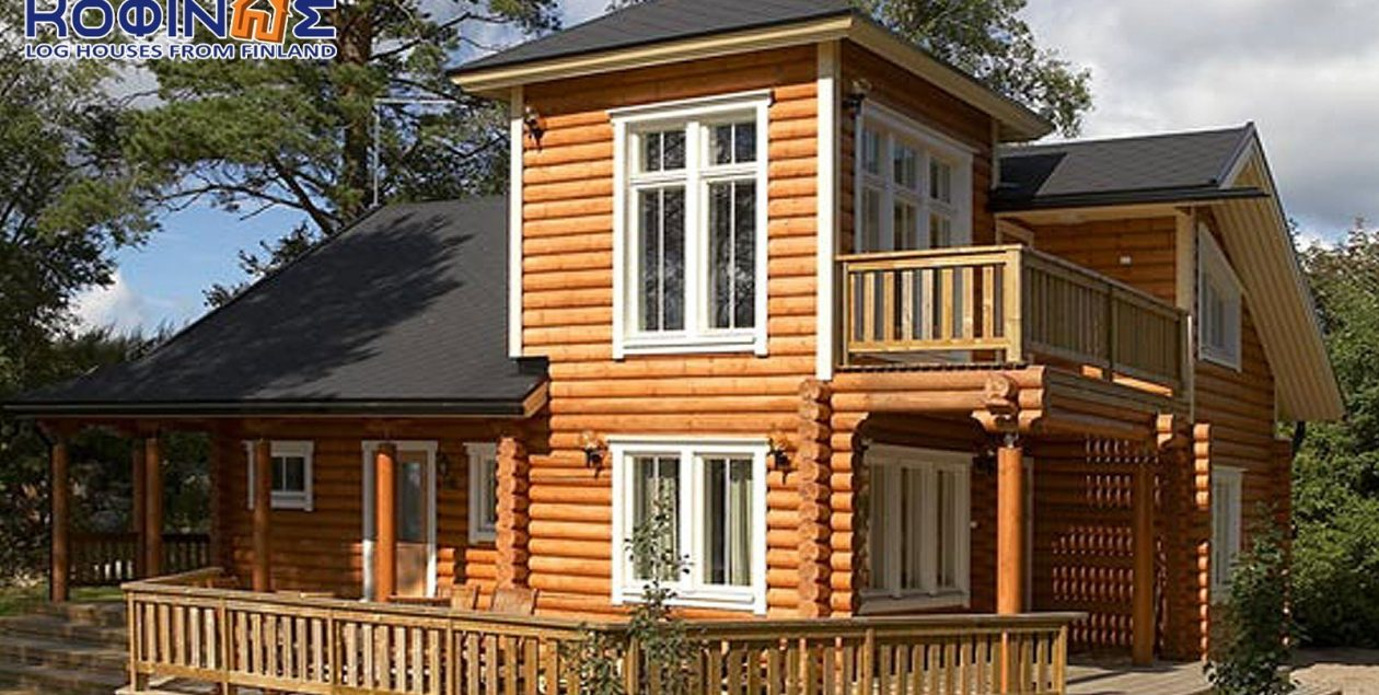 2-story log house XD-124, total surface of 124,90 m² featured image