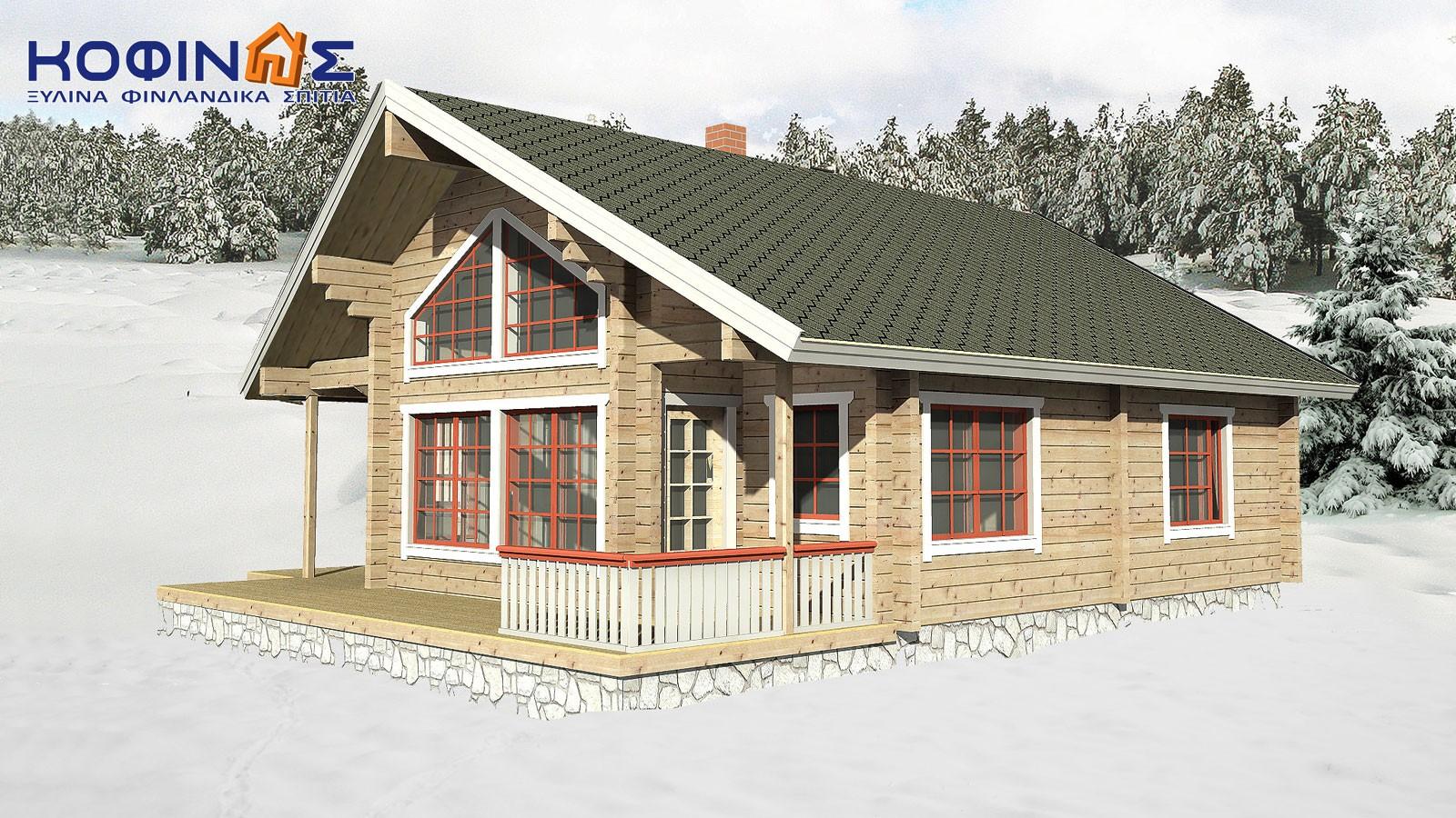 Διώροφη Ξύλινη Κατοικία XD-125, συνολικής επιφάνειας 125,35 τ.μ.0