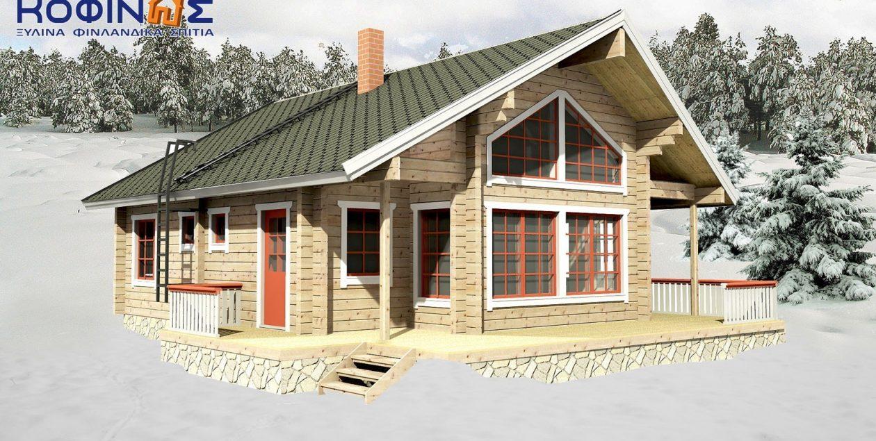 Διώροφη Ξύλινη Κατοικία XD-125, συνολικής επιφάνειας 125,35 τ.μ. featured image
