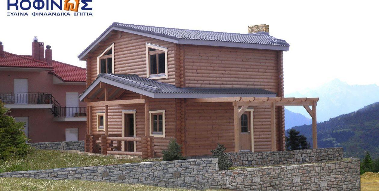 Διώροφη Ξύλινη Κατοικία XD-138, συνολικής επιφάνειας 138,10 τ.μ. featured image