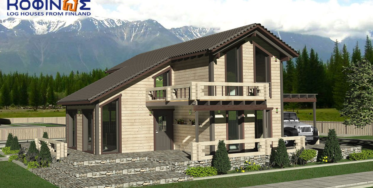 2-story log house XD-141, total surface of 141,70 m² featured image
