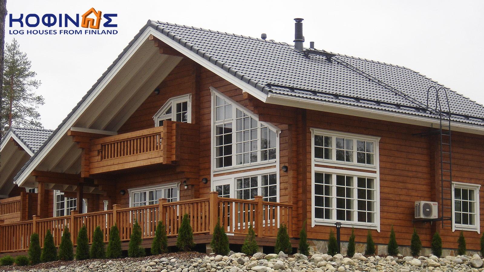 2-story log house XD-1542