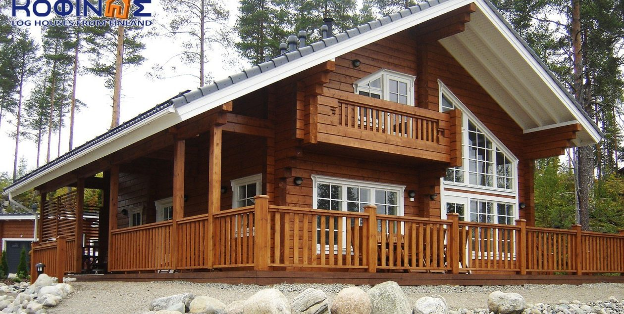 2-story log house XD-154 featured image