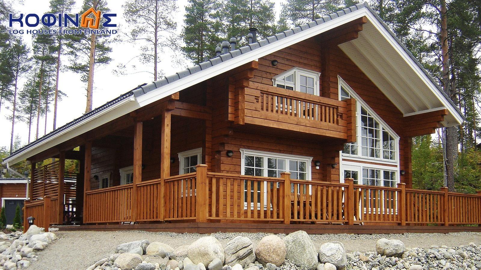 2-story log house XD-154