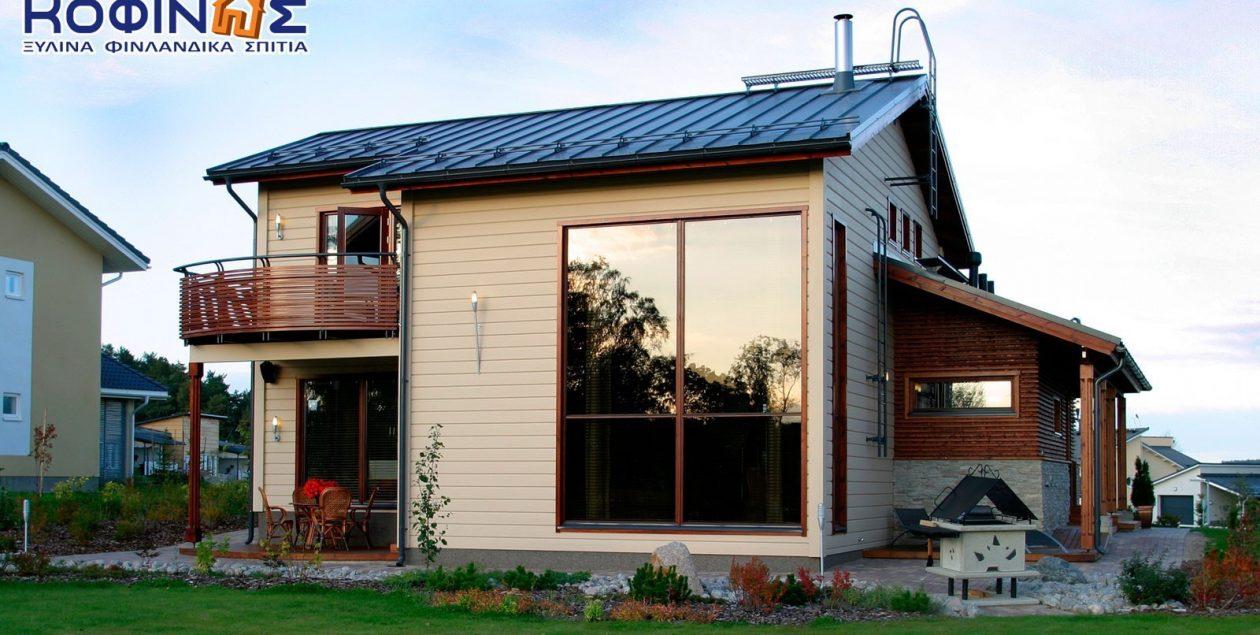 Διώροφη Ξύλινη Κατοικία XD-156, συνολικής επιφάνειας 156,60 τ.μ. featured image